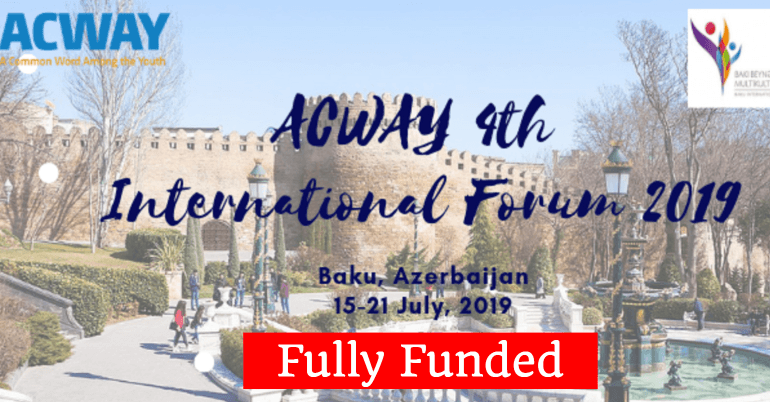 Fully Funded Youth Opportunities 2019