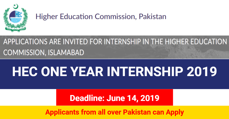 HEC Internship 2019 by Higher Education Commission, Pakistan